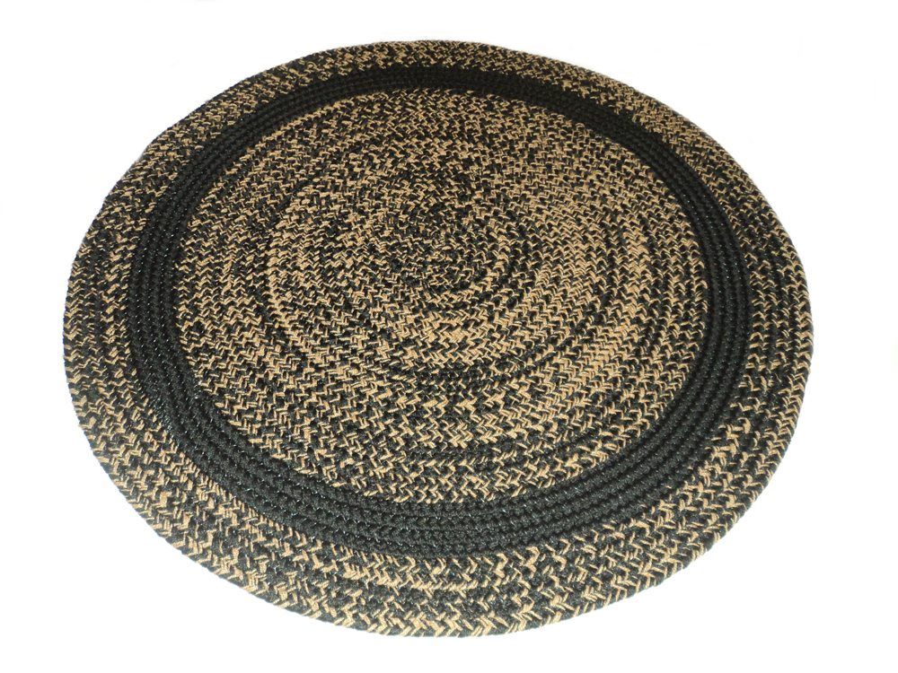 Classic round braided rugs accent with braided rugs and more for How to pick a rug color